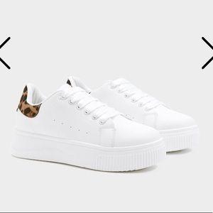 Platform leopard sneakers